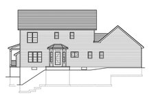 Colonial Exterior - Rear Elevation Plan #1010-152