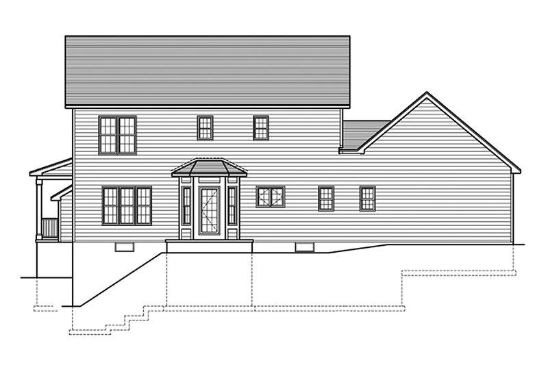 Colonial Exterior - Rear Elevation Plan #1010-152 - Houseplans.com