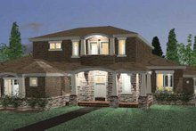 House Design - Prairie Exterior - Front Elevation Plan #937-1
