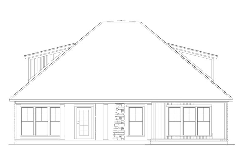 Country Exterior - Rear Elevation Plan #17-3356 - Houseplans.com