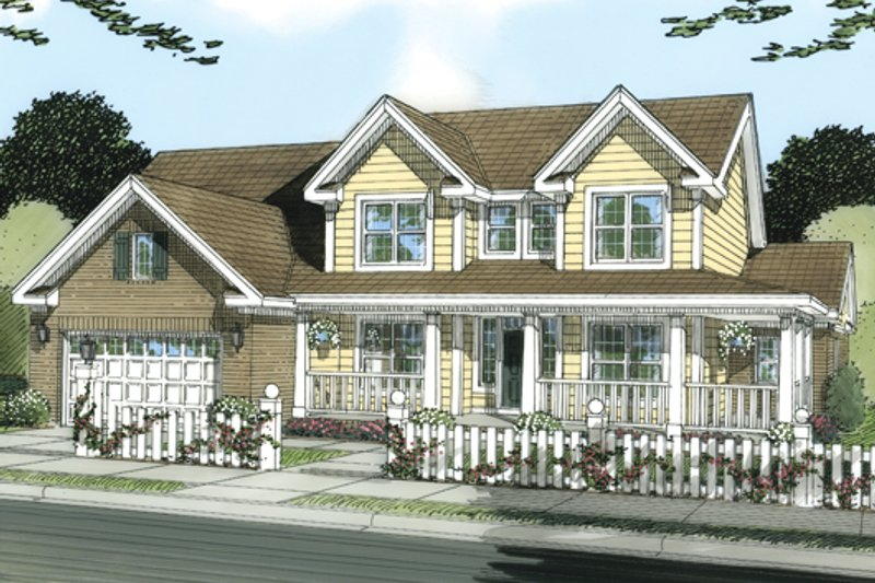 Country Exterior - Front Elevation Plan #513-2051 - Houseplans.com