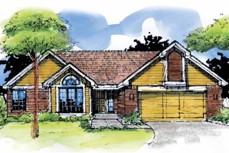Dream House Plan - Craftsman Exterior - Front Elevation Plan #320-1499