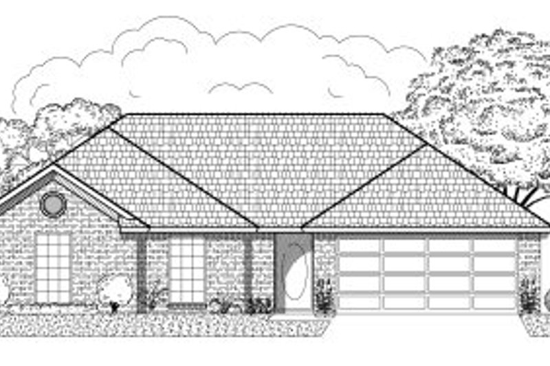 Traditional Style House Plan - 3 Beds 2 Baths 1311 Sq/Ft Plan #65-393 Exterior - Front Elevation