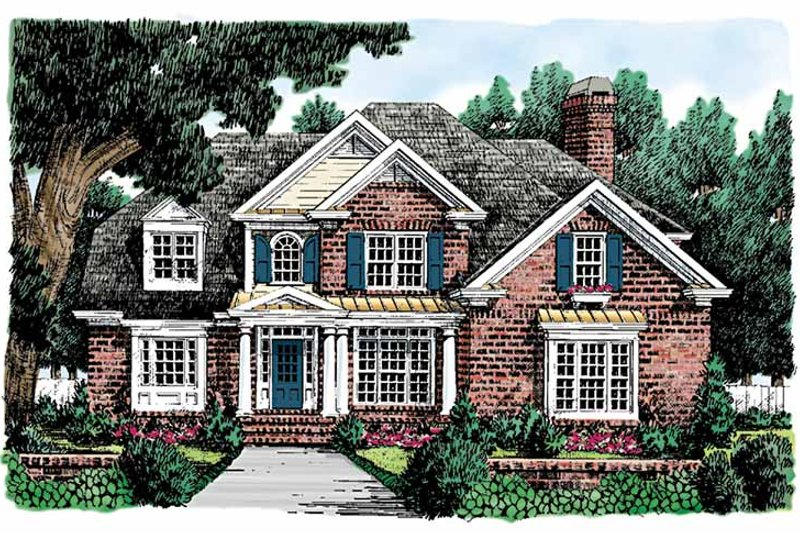 Colonial Exterior - Front Elevation Plan #927-714