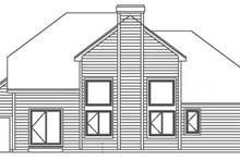 Country Exterior - Rear Elevation Plan #300-138
