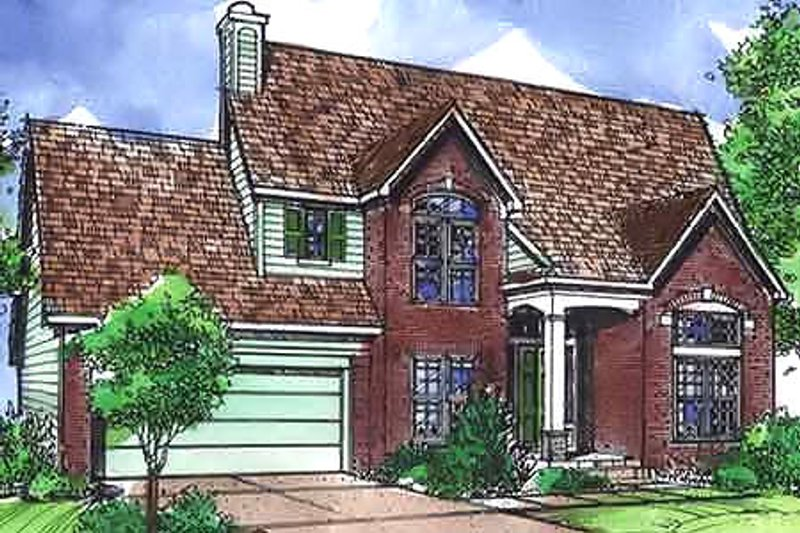 European Exterior - Front Elevation Plan #320-451