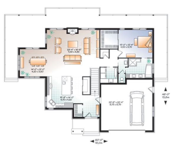 Dream House Plan - Craftsman Floor Plan - Main Floor Plan #23-2712