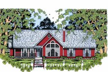 Ranch Exterior - Front Elevation Plan #42-599
