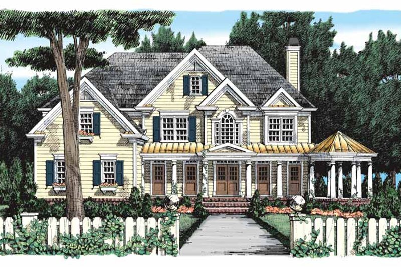 House Plan Design - Colonial Exterior - Front Elevation Plan #927-393