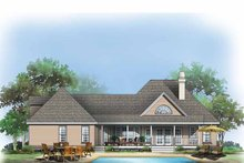 Dream House Plan - Traditional Exterior - Rear Elevation Plan #929-575