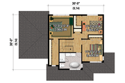 Contemporary Style House Plan - 3 Beds 1 Baths 1686 Sq/Ft Plan #25-4373 Floor Plan - Upper Floor Plan
