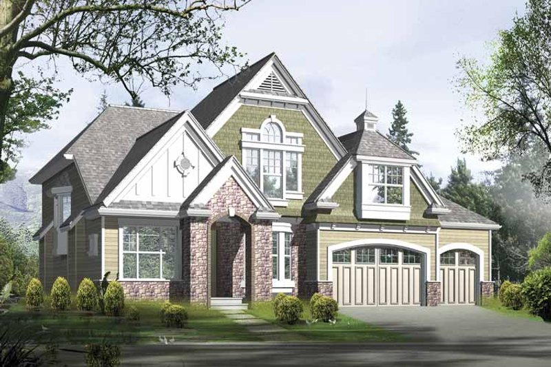 Craftsman Exterior - Front Elevation Plan #132-367