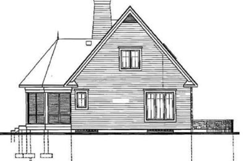 Country Exterior - Rear Elevation Plan #23-2064