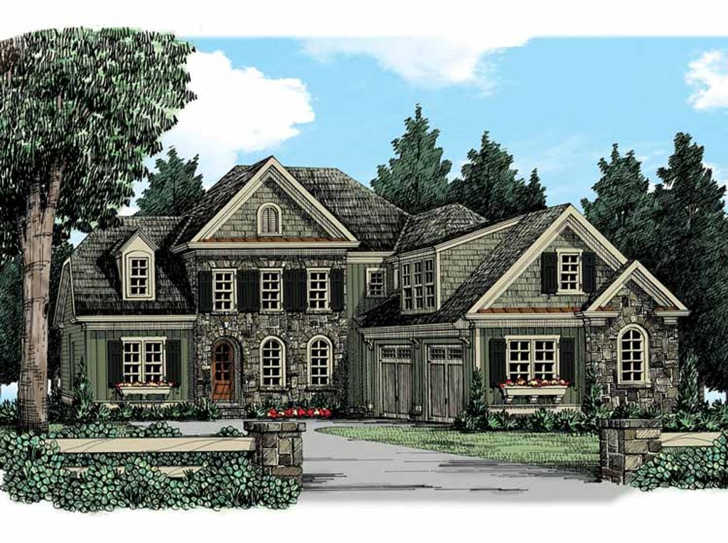 European style house plan 5 beds 4 baths 2858 sq ft plan for Old american style houses