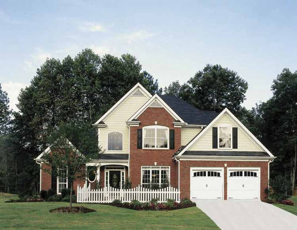 Country style house plan 3 beds 2 5 baths 2155 sq ft for Red cottage house plans