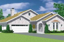 House Plan Design - European Exterior - Front Elevation Plan #72-1136