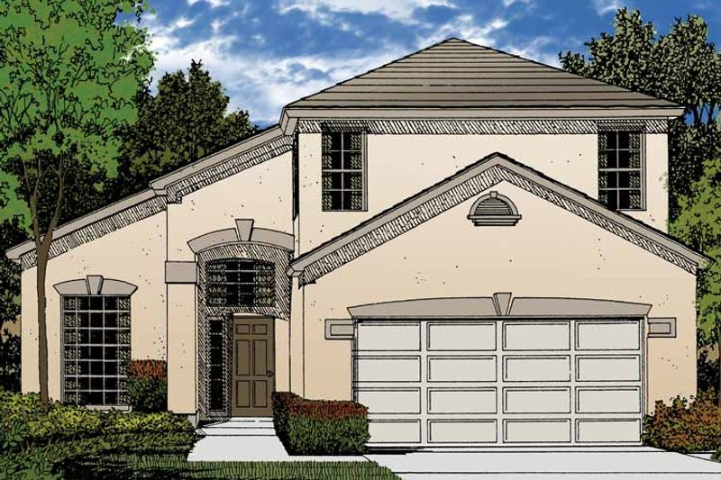 Contemporary Exterior - Front Elevation Plan #1015-43 - Houseplans.com