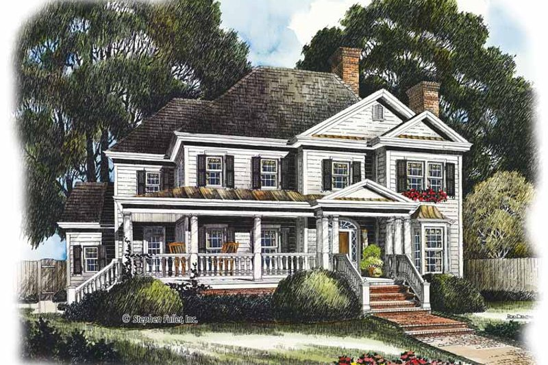 House Plan Design - Country Exterior - Front Elevation Plan #429-437