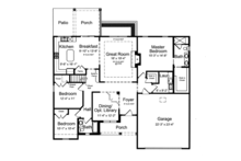 Traditional Floor Plan - Main Floor Plan Plan #46-839