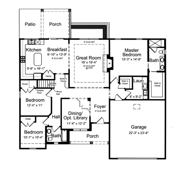 Traditional Floor Plan - Main Floor Plan Plan #46-839