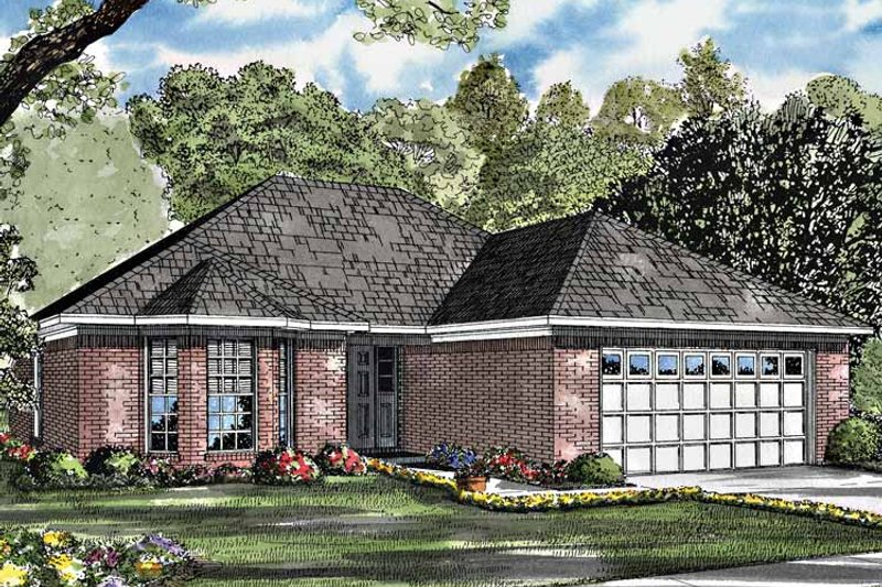 Ranch Exterior - Front Elevation Plan #17-3200 - Houseplans.com