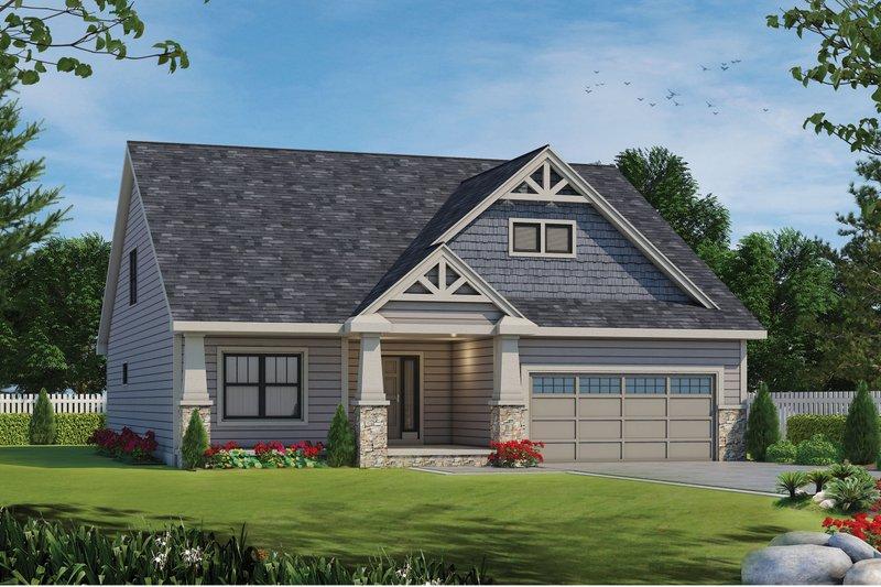 House Plan Design - Craftsman Exterior - Front Elevation Plan #20-2463