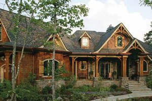 Dream House Plan - Craftsman Exterior - Front Elevation Plan #54-352