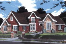 Country Exterior - Front Elevation Plan #46-686