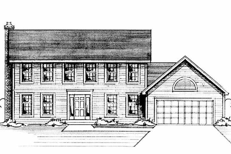Colonial Exterior - Front Elevation Plan #51-725 - Houseplans.com