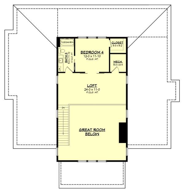 Dream House Plan - Farmhouse Floor Plan - Upper Floor Plan #430-259