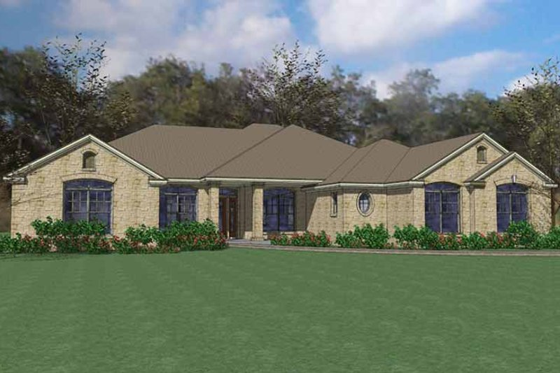 House Plan Design - European Exterior - Front Elevation Plan #120-228
