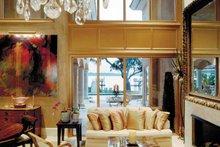 Architectural House Design - Mediterranean Interior - Family Room Plan #930-283