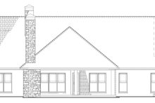 European Exterior - Rear Elevation Plan #17-3403