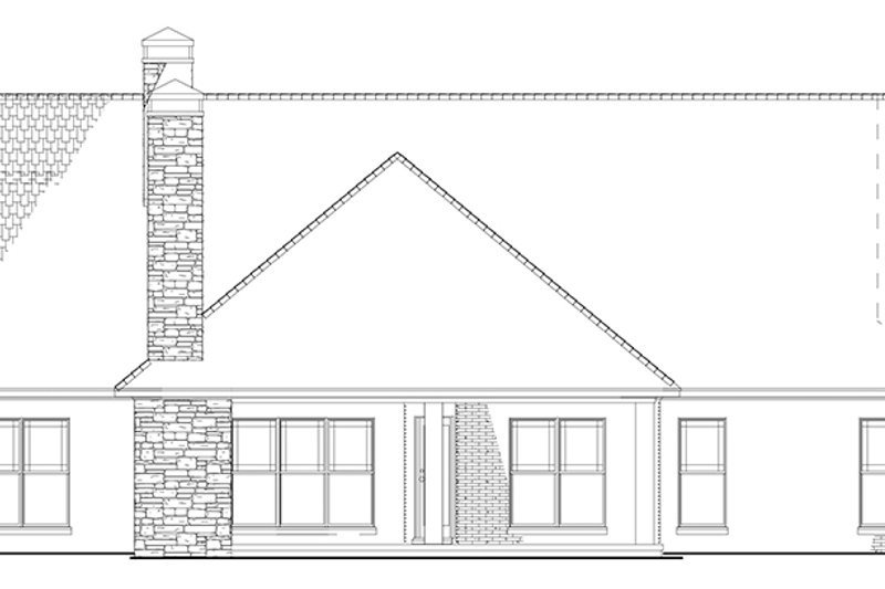 European Exterior - Rear Elevation Plan #17-3403 - Houseplans.com