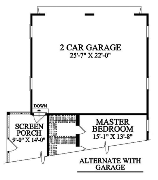 Country Floor Plan - Other Floor Plan Plan #137-365