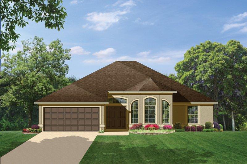 House Plan Design - Mediterranean Exterior - Front Elevation Plan #1058-38