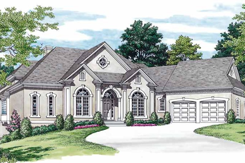 Traditional Exterior - Front Elevation Plan #453-204 - Houseplans.com