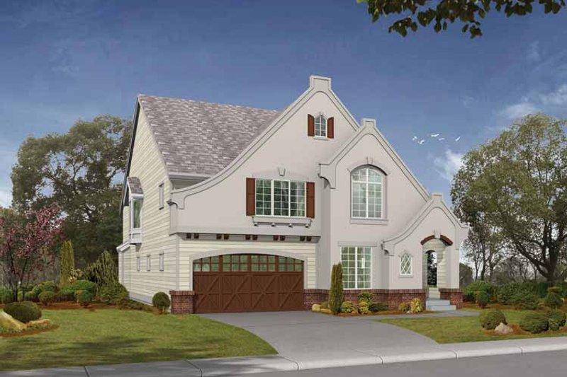 Home Plan - European Exterior - Front Elevation Plan #132-332