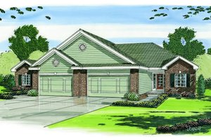 Traditional Exterior - Front Elevation Plan #455-94
