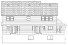 Farmhouse Exterior - Rear Elevation Plan #1060-1
