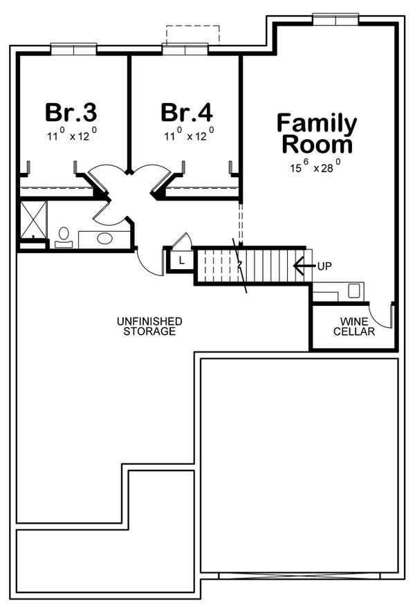 House Plan Design - Cottage Floor Plan - Lower Floor Plan #20-2387