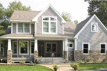 Craftsman Exterior - Front Elevation Plan #120-198