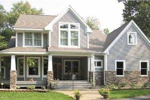 Craftsman Exterior - Front Elevation Plan #120-198