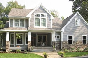 Dream House Plan - Craftsman Exterior - Front Elevation Plan #120-198