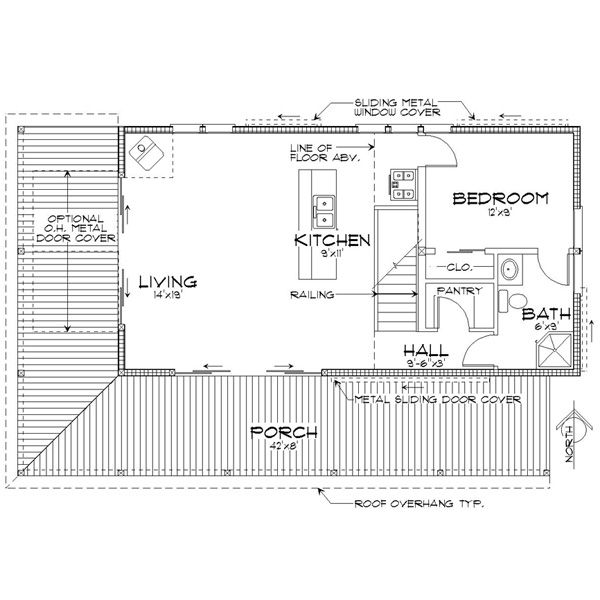 Cabin Floor Plan - Main Floor Plan Plan #452-3