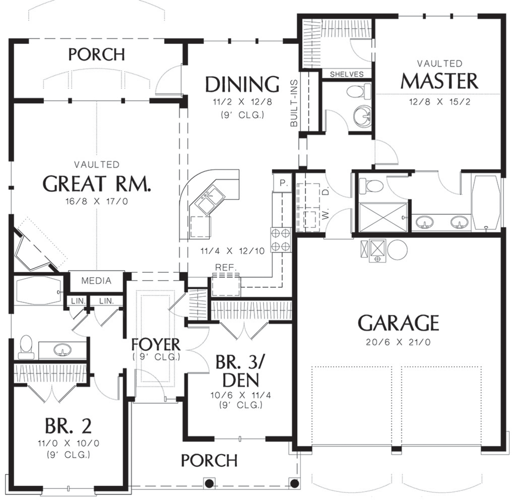 Cottage style house plan 3 beds 2 5 baths 1580 sq ft for Floor plan services