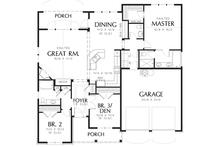 Cottage style floor plan layout 48-102