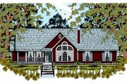 Traditional Style House Plan - 4 Beds 2 Baths 1676 Sq/Ft Plan #42-362 Exterior - Front Elevation