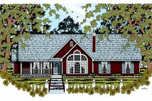 Traditional Exterior - Front Elevation Plan #42-362