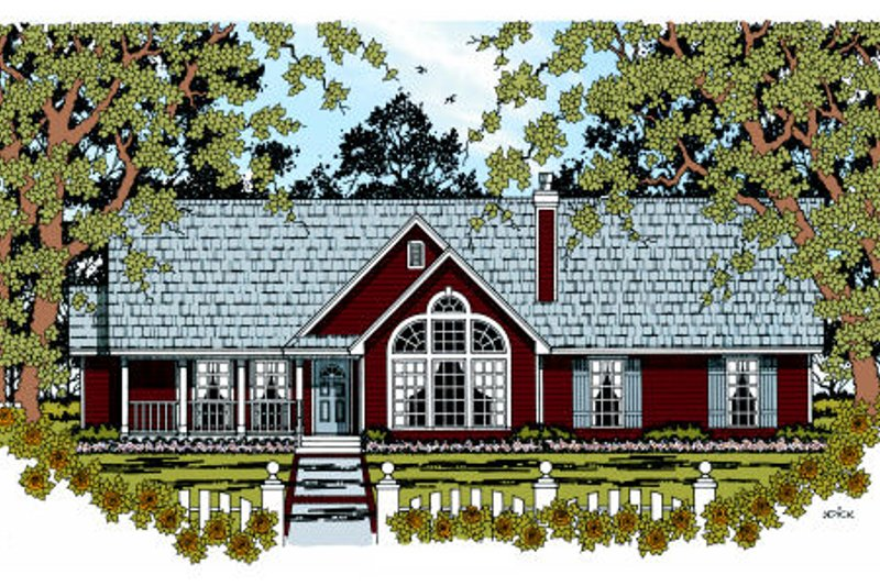 Traditional Style House Plan - 4 Beds 2 Baths 1676 Sq/Ft Plan #42-362